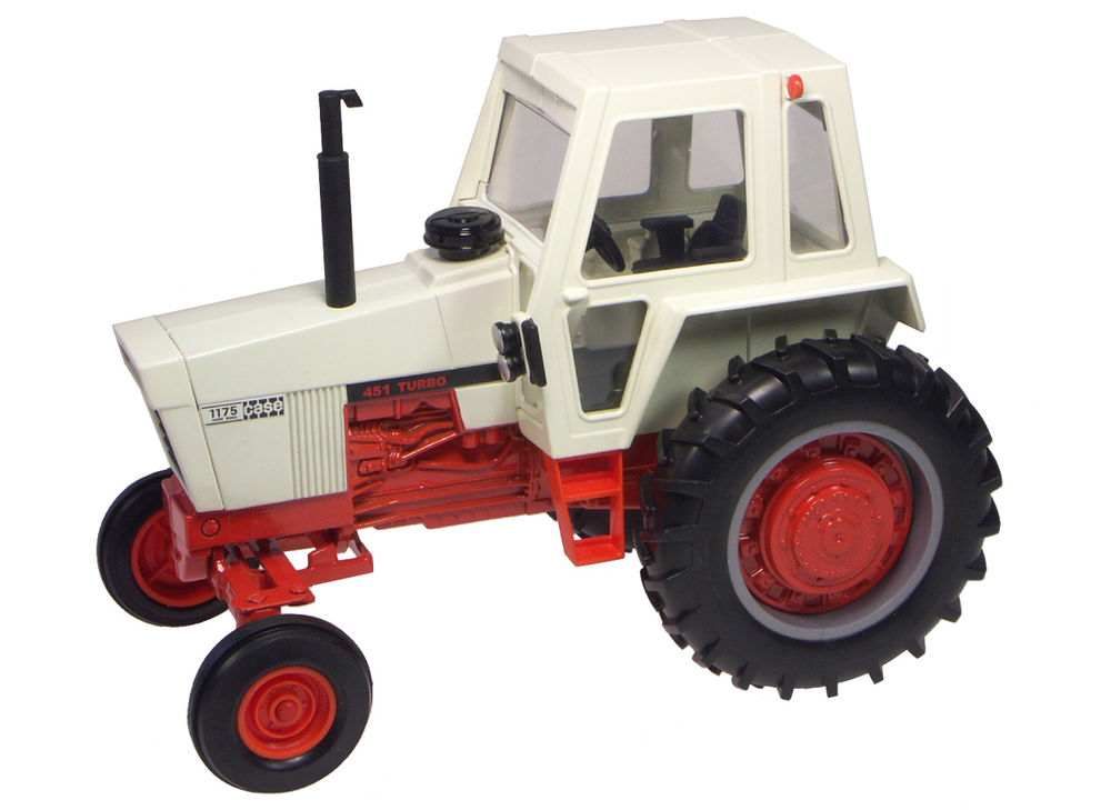 1175 TRACTOR with CAB   OrangeWhite   Prestige Series scale model by Collector Models