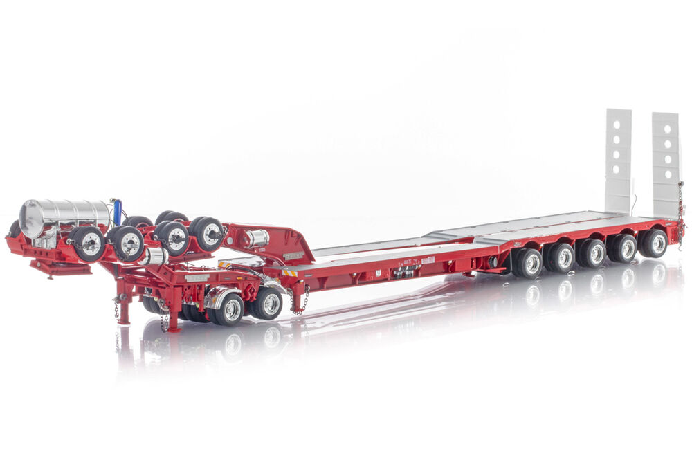 DRAKE 5 x 8 SWINGWING DROP DECK TRAILER w 2 x 8 DOLLY  red scale model by Collector Models