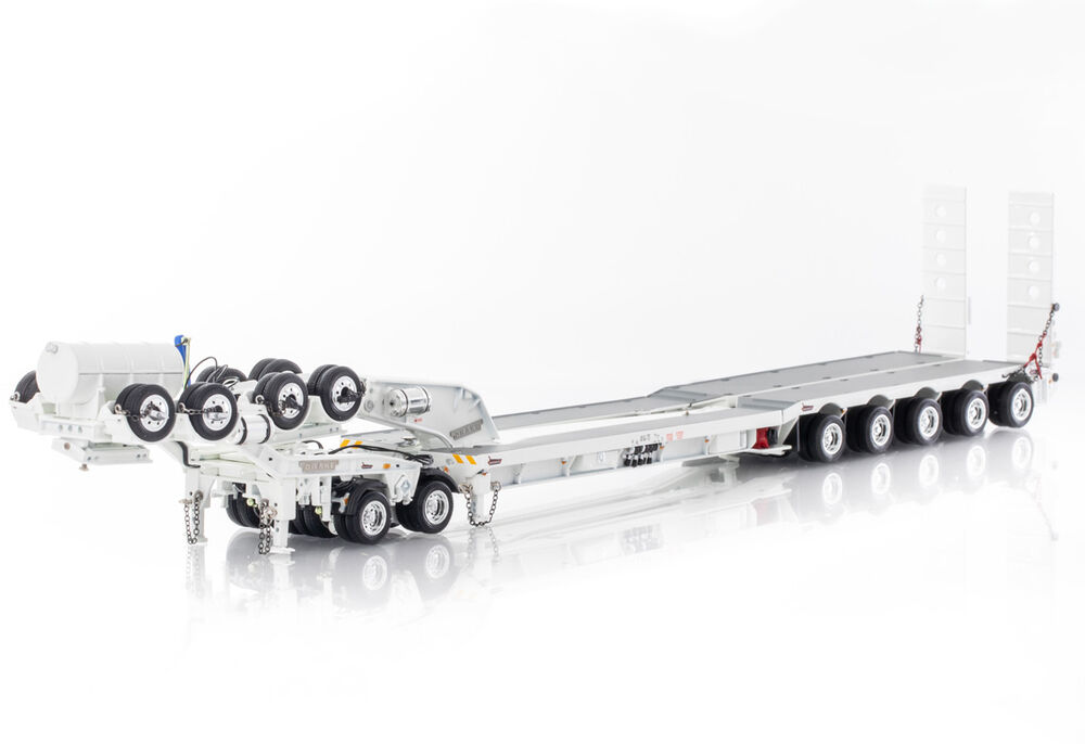 DRAKE 5 x 8 SWINGWING DROP DECK TRAILER w 2 x 8 DOLLY  white scale model by Collector Models