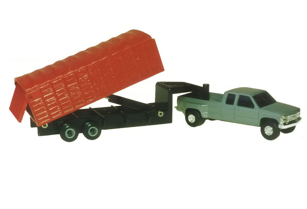 DUALLY PICKUP with TIPPING GRAIN TRAILER scale model by Collector Models