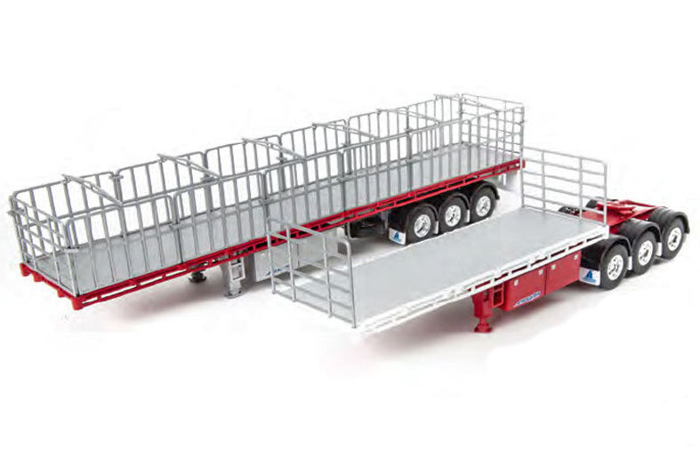 FREIGHTER MAXITRANS B DOUBLE FLAT TOP TRAILER SET whitered or burgundy scale model by Collector Models