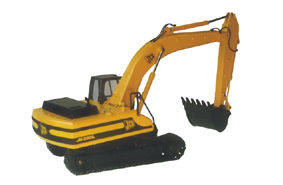 JS330L HYDRAULIC EXCAVATOR with detailed tracks scale model by Collector Models