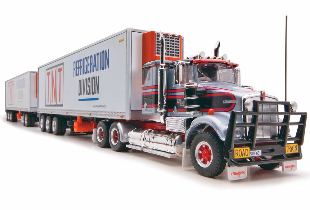 KENWORTH SAR ROADTRAIN REFER PANTECH with two TRAILERS  TNT scale model by Collector Models