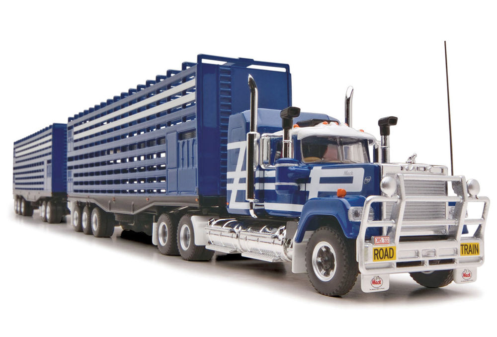 MACK SUPERLINER ROAD TRAIN CATTLE TRUCK with 2 TRAILERS