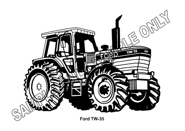 Ford Tw 35 Tractor Parts : Murray parker sketch mounted ford tw tractor