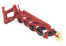 ERTL 4 FURROW PLOUGH  (red)