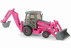 CASE 580 SUPER N WT BACKHOE  Special Edition  -  Pink