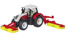 STEYR 6230CVT TRACTOR with POTTINGER FRONT & REAR MOWERS