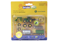 JOHN DEERE 6920 TRACTOR and IMPLEMENT SET (key ring)