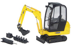 JCB 8016 MINI EXCAVATOR with 3 TOOLS (bucket, hammer, auger)