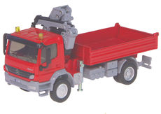 MERCEDES BENZ ATEGO TRAY TRUCK with SELF LOADING CRANE