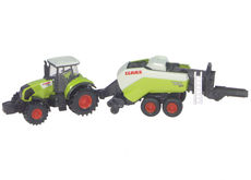 CLAAS AXION 850 TRACTOR with QUADRANT 3400 SQUARE BALER