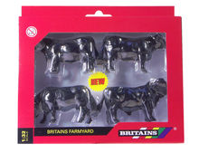 BRITAINS ABERDEEN ANGUS CATTLE  (set/4)