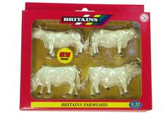 BRITAINS CHAROLAIS CATTLE, Pack of 4