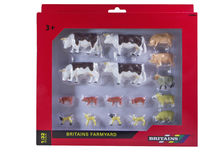 BRITAINS FARM ANIMALS ASSORTMENT 17 piece (Hereford cattle, pigs, sheep)