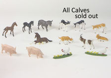 BRITAINS FARM ANIMALS - SMALL, each  (goats, foals, pigs, poultry, no calves)