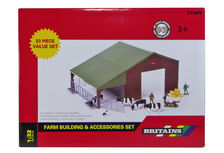BRITAINS FARM BUILDING & ACCESSORY SET (Shed & animals etc.)