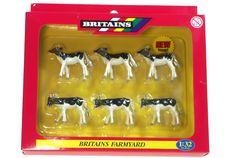 BRITAINS FRIESIAN CALVES, Pack of 6