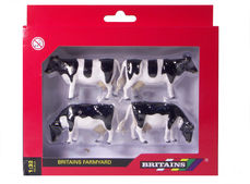 BRITAINS FRIESIAN COWS  (set/4)