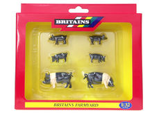 BRITAINS SADDLEBACK PIGS and PIGLETS (set/6)