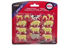 BRITAINS SHEEP SET - 9 SHEEP, 4 LAMBS, SHEEP DOG
