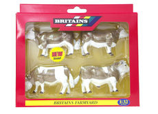 BRITAINS SIMMENTAL CATTLE  (set/4)