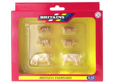BRITAINS WHITE PIGS and PIGLETS  (set/6)