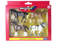 BRITAINS WORKING HORSES  (set/4)