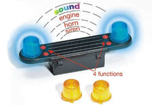 BRUDER LIGHT BAR with SOUND MODULE to suit BRUDER TRUCKS