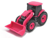 CASE/IH MAGNUM TRACTOR with LOADER  (PINK)  (no box)