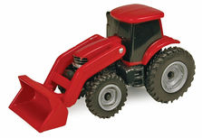 CASE/IH MAGNUM TRACTOR with LOADER   plastic   (no box)