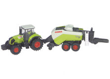 CLAAS AXION 850 TRACTOR with QUANTUM 5700S SILAGE TRAILER