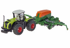 CLAAS XERION 5000 TRACTOR with AMAZONE CAYENA 6001 SEEDER