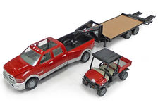 DODGE RAM DUAL CAB PICK-UP with TRAILER and CIH SCOUT MPV (BIG FARM Series)