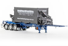 DRAKE O-PHEE BOX CONTAINER SIDE LOADER (met. blue) with CONTAINER