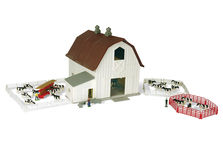 ERTL DAIRY BARN BUILDING SET with ANIMALS (65 pieces)
