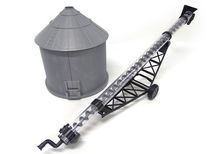 ERTL GRAIN SILO (plastic) with WORKING AUGER