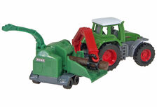 FENDT 928 VARIO TRACTOR with JENZ CHIPPER
