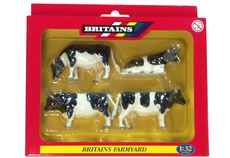 BRITAINS FRIESIAN CATTLE, Pack of 4