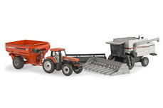 AGCO GLEANER C62 HEADER with AGCO DT200 TRACTOR & CHASER BIN