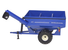 J & M GRAIN CHASER BIN with HINGE UP AUGER  (BLUE)