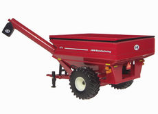 J & M GRAIN CHASER BIN with HINGE UP AUGER  (RED)