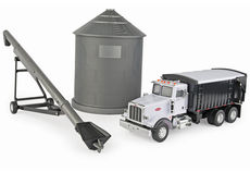 ERTL GRAIN SILO, AUGER and PETERBILT GRAIN TRUCK SET