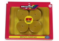 BRITAINS HAY BALES (round) 53 mm dia. Pack of 4
