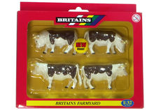 BRITAINS HEREFORD CATTLE, Pack of 4