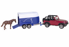 JEEP WRANGLER WITH HORSE FLOAT & HORSE