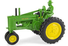 JOHN DEERE MODEL A with MAN   Ertl 75th Anniversary tractor