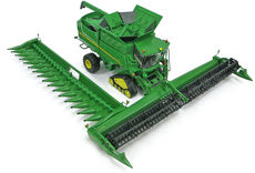 JOHN DEERE S690i HEADER on tracks w/ draper front