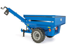J & M GRAIN CHASER BIN (blue) with WORKING AUGER  Ertl  Big Farm series