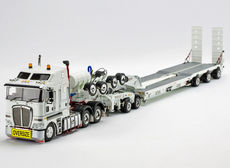 KENWORTH K200 w/ DRAKE 3x8 SWINGWING TRAILER & 2x8 DOLLY (white or white/red)